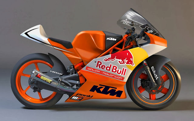KTM Moto3 Race Bike